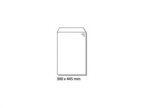 , luchtkussenenvelop Raadhuis 300x445mm I19 wit plakstrip     doos a 50 stuks