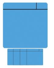 , Magneet scrum 75x75mm lichtblauw