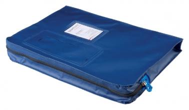 , Verzendtas Recordpack met venster blauw