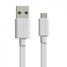 , Xtorm Flat USB to Micro USB cable (1m) White