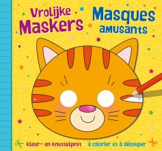 , Vrolijke maskers - kleur- en knutselpret (4+) Masques amusants – à découper et à colorier (4+)