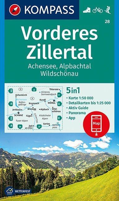 ,Vorderes Zillertal, Achensee, Alpbachtal, Wildschönau  1:50 000