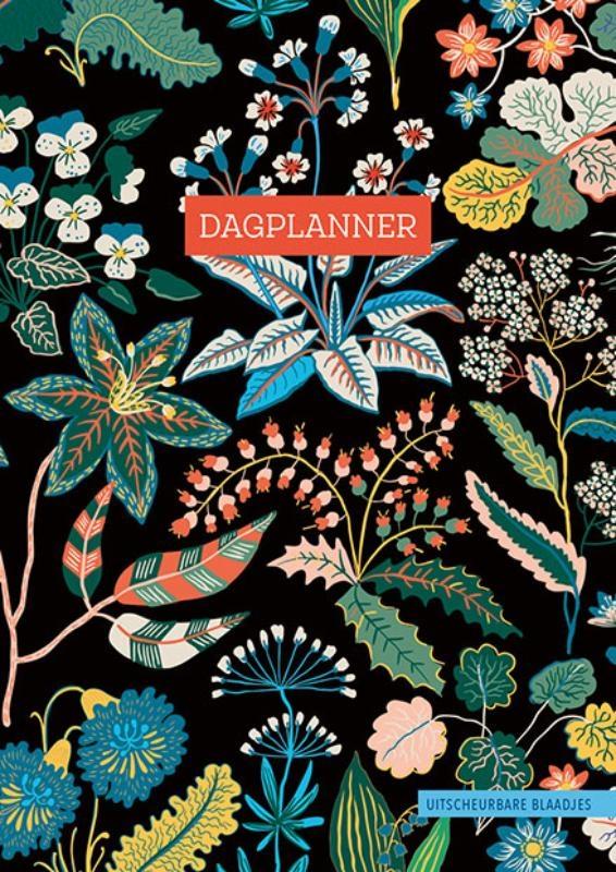ZNU,Dagplanner - Floral Black
