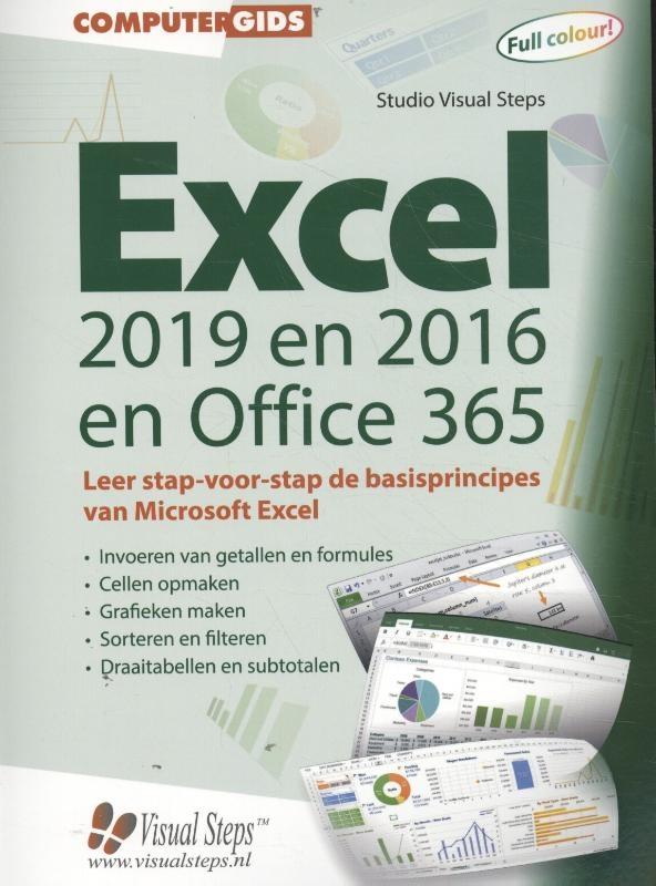 Studio Visual Steps,Computergids Excel 2019, 2016 en Office 365