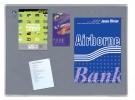 ,Textielbord Legamaster Premium 60x90cm grijs