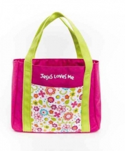 My First Church Bag Jesus Loves Me Medium Book & Bible Cover