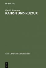 Guy G. Stroumsa Kanon und Kultur