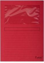 , Insteekmap L-model Exacompta + venster karton rood