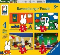 Rav-030453 , Puzzel ravensburger nijntjes verjaardag 4 in een doos (12+16+20+24)