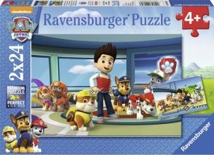 Rav-090853 , Puzzel - paw patrol - hulpvaardige speurneuzen - 2 x 24 - 4+ - ravensburger