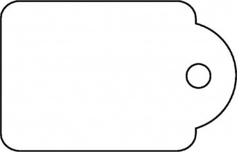 , Label Apli karton nr395 45x65mm wit