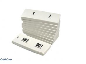 , Nummerblok 42x105mm nummering 1-1000 wit 10 stuks