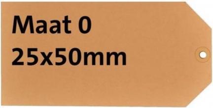 , Label HF2 nr0 200gr 25x50mm chamois 1000stuks