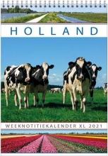 , Week notitie kalender 2021 holland a4