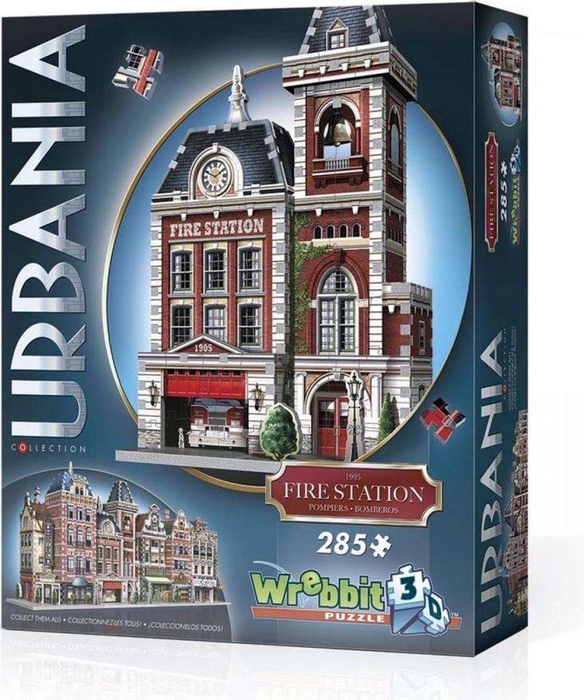 W3d-0505,Puzzel 3d - urbania fire station- wrebbit- 285 stuks