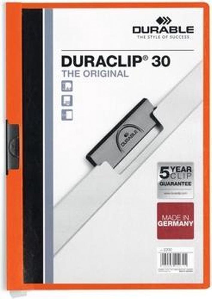 ,Klemmap Durable 2200 A4 3mm oranje