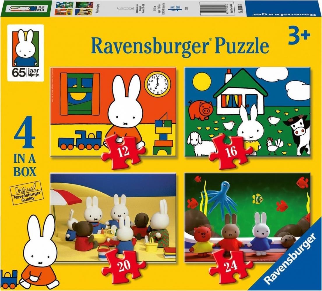 Rav-030453,Puzzel ravensburger nijntjes verjaardag 4 in een doos (12+16+20+24)