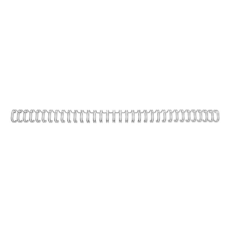 ,Draadrug GBC 12.7mm 34-rings A4 zilver 100stuks