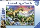 <b>Rav-106653</b>,Bij de dinosaurussen - puzzel - ravensburger - 100 xxl - 49 x 36