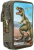 ,<b>Dino world 3 vaks etui met led</b>