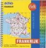 ,<b>Falk autokaart Frankrijk routiq 2016-2018, 8e druk atlas met ringband.</b>
