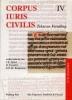 <b>J.E. Spruit (red)</b>,Corpus Iuris Civilis (IV). Tekst en Vertaling