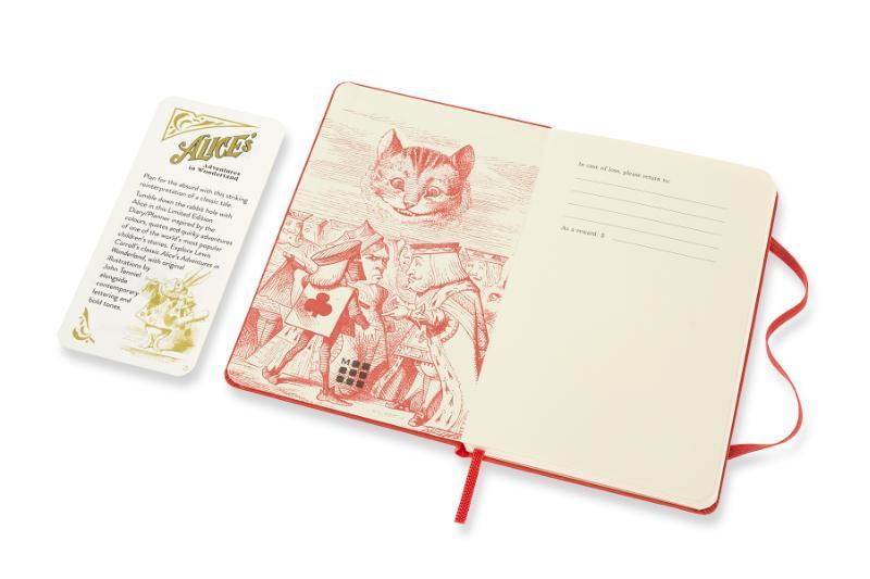 ,Moleskine 12 MND Agenda - 2021 - LE Planner -  Alice In Wonderland - Wekelijks - Pocket (9x14 cm) - Cards
