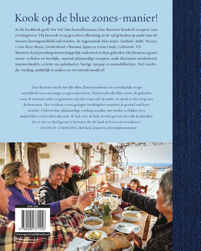 Dan Buettner,Blue zones kookboek