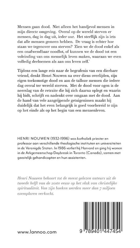 Henri Nouwen,Met de dood voor ogen