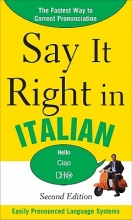 Peters, Clyde Say It Right in Italian