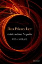 Bygrave, Lee Andrew Data Privacy Law