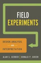 Alan S. Gerber,   Donald P. Green Field Experiments