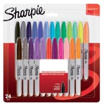 , Viltstift Sharpie rond 0.9mm blister à 24 stuks assorti