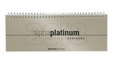 Tisch-Querkalender alpha platinum 2018