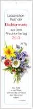 Dichterworte 2017. Lesezeichenkalender
