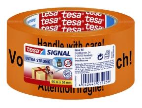 , Verpakkingstape Tesa Signaal Tape 50mmx66m oranje/zwart