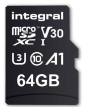 , Geheugenkaart Integral microSDHC V30 64GB