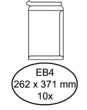 , Envelop Hermes akte EB4 262x371mm zelfklevend wit 10stuks