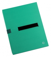 , Bulkmap Jalema met klittenbandsluiting groen