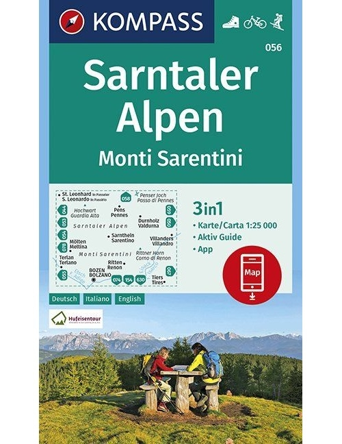 Kompass-Karten Gmbh,Sarntaler Alpen, Monti Sarentini 1:25 000