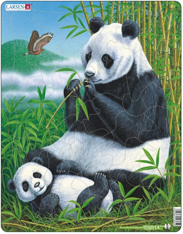 ,Larsen puzzel - Panda - D5