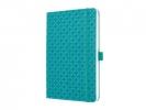 ,notitieboek Sigel Jolie Flair A5 hardcover gelinieerd aqua  groen