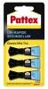 ,Secondelijm Pattex Classic mini trio tube 3x1gram op blister