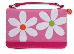 Daisy Microfiber Pink Book & Bible Cover