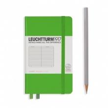 Lt357484 , Leuchtturm notitieboek pocket 90x150 lijn lichtgroen