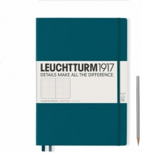 , Leuchtturm notitieboek master slim a4 dots/puntjes pacific