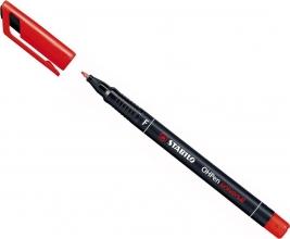 , Viltstift STABILO OHpen permanent 842/40 rond 0.7mm rood