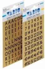 , Etiket Herma 4145 13x12mm letters A-Z zwart op goud