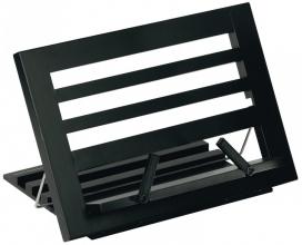 Mos-81395 Boekenstandaard zwart hout