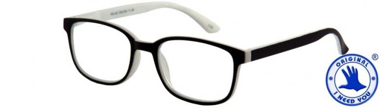 , Leesbril relax zwart wit +2.00